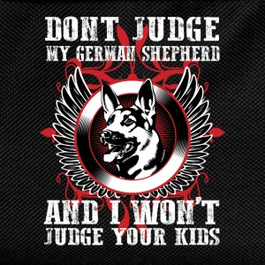 Dont Judge My German Shepherd T-Shirts - Kids' Backpack
