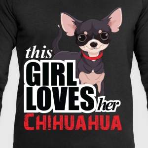 this girl loves her chihuahua T-Shirts - Men's Sweatshirt by Stanley & Stella