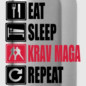 Eat-Sleep-KravMaga-Repeat Camisetas - Cantimplora