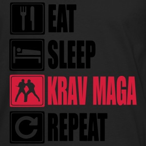 Eat-Sleep-KravMaga-Repeat Camisetas - Camiseta de manga larga premium hombre