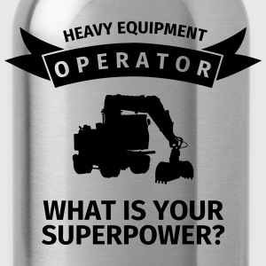 Heavy Equipment Operator - What is Your Superpower Gensere - Drikkeflaske