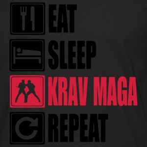 Eat-Sleep-KravMaga-Repeat Tee shirts - T-shirt manches longues Premium Homme