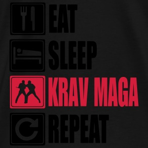 Eat-Sleep-KravMaga-Repeat Gensere - Premium T-skjorte for menn