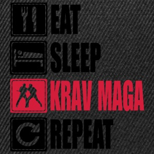 Eat-Sleep-KravMaga-Repeat Sweat-shirts - Casquette snapback