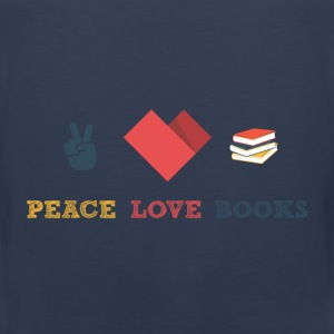 Peace love books - Men's Premium Tank Top
