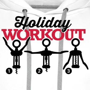 Holiday workout corkscrew Tabliers - Sweat-shirt à capuche Premium pour hommes