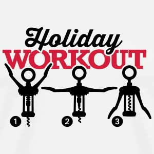 Holiday workout corkscrew Tabliers - T-shirt Premium Homme
