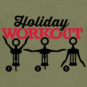 Holiday workout corkscrew Sonstige - Männer Slim Fit T-Shirt