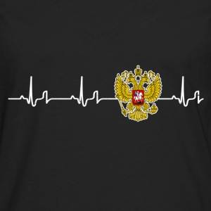 « Heartbeat » - Russie Tee shirts - T-shirt manches longues Premium Homme