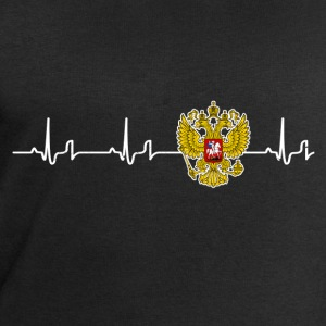Heartbeat - Russia T-Shirts - Men's Sweatshirt by Stanley & Stella