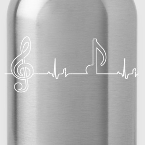 Heartbeat - notes T-Shirts - Water Bottle