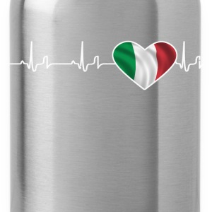 Heartbeat - Italië T-shirts - Drinkfles