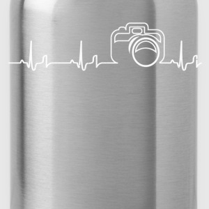 Heartbeat - camera T-Shirts - Water Bottle