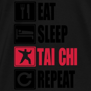 Eat-Sleep-Tai Chi-Repeat Gensere - Premium T-skjorte for menn