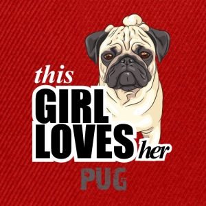 This Girl Loves Her Pug T-Shirts - Snapback Cap