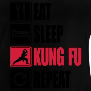 Eat-Sleep-Kung Fu-Repeat Camisetas - Camiseta bebé