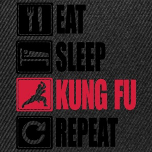 Eat-Sleep-Kung Fu-Repeat T-Shirts - Snapback Cap