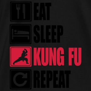 Eat-Sleep-Kung Fu-Repeat Tröjor - Premium-T-shirt herr