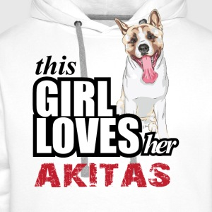 This Girl Loves Her Akita T-Shirts - Men's Premium Hoodie
