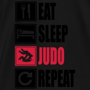 Eat-Sleep-Judo-Repeat Sweaters - Mannen Premium T-shirt
