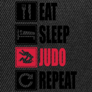 Eat-Sleep-Judo-Repeat Sudaderas - Gorra Snapback