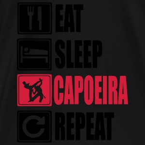 Eat-Sleep-Capoeira-Repeat Sweatshirts - Herre premium T-shirt