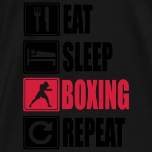 Eat-Sleep-Boxing-Repeat Sweaters - Mannen Premium T-shirt