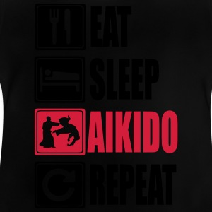 Eat-Sleep-Aikido-Repeat Camisetas - Camiseta bebé