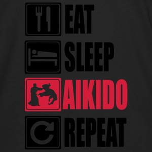 Eat-Sleep-Aikido-Repeat Sweat-shirts - T-shirt manches longues Premium Homme