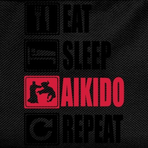 Eat-Sleep-Aikido-Repeat Magliette - Zaino per bambini
