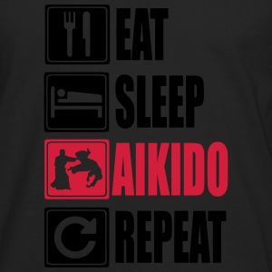 Eat-Sleep-Aikido-Repeat Tee shirts - T-shirt manches longues Premium Homme