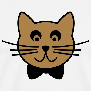 Cat with tie bow Long Sleeve Shirts - Men's Premium T-Shirt