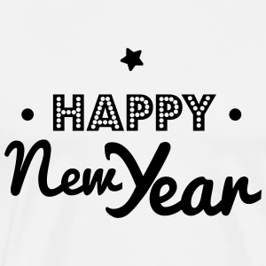 happy new year Manga larga - Camiseta premium hombre