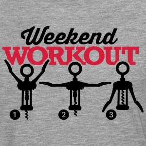 Weekend workout corkscrew T-shirts - Mannen Premium shirt met lange mouwen