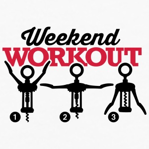 Weekend workout corkscrew Mobil- & tablet-covers - Herre premium T-shirt med lange ærmer