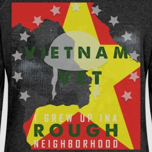 Vietnam vet i grew up in a rough neighborhood - Women's Boat Neck Long Sleeve Top