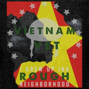 Vietnam vet i grew up in a rough neighborhood - Men's Premium Tank Top