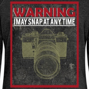 Warning i may snap at any time - Women's Boat Neck Long Sleeve Top