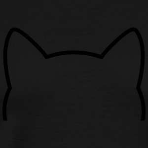 Cat Icon Outline Manches longues - T-shirt Premium Homme