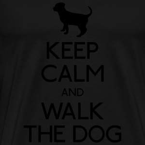 Keep Calm walk the dog Hoodies & Sweatshirts - Men's Premium T-Shirt