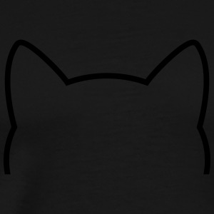 Cat Icon Outline Top - Maglietta Premium da uomo