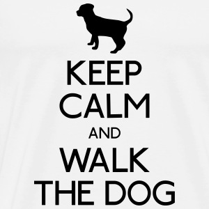 Keep Calm walk the dog Tops - Männer Premium T-Shirt