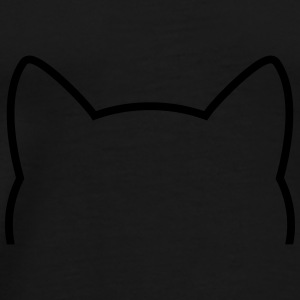 Cat Icon Outline Tasker & rygsække - Herre premium T-shirt