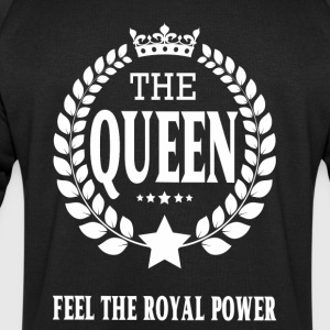 THE QUEEN white transparentes logo.png Tops - Männer Sweatshirt von Stanley & Stella