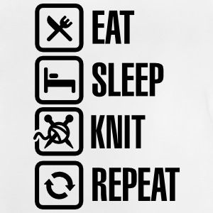 Eat Sleep Knit Repeat T-shirts - Baby-T-shirt