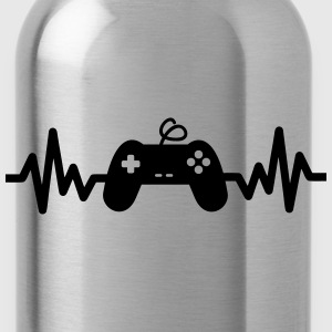 Gaming is life -  game Sprüche - Trinkflasche