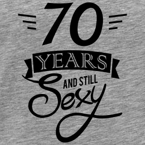 70 years and still sexy Topper - Premium T-skjorte for menn