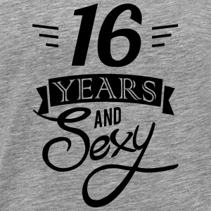 16 years and sexy Sweaters - Mannen Premium T-shirt