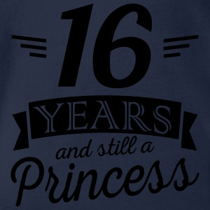 16 years and still a princess Maglietta a maniche lunghe - Body ecologico per neonato a manica corta