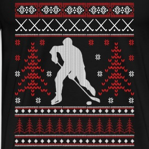 Eishockey - Ugly Christmas Long Sleeve Shirts - Men's Premium T-Shirt